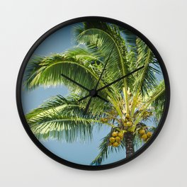 keanae hawaiian coconut palm tree Wall Clock