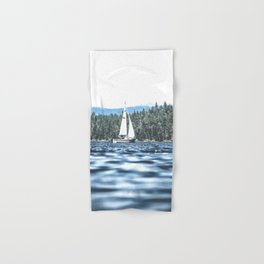 Calm Lake Sailboat Hand & Bath Towel