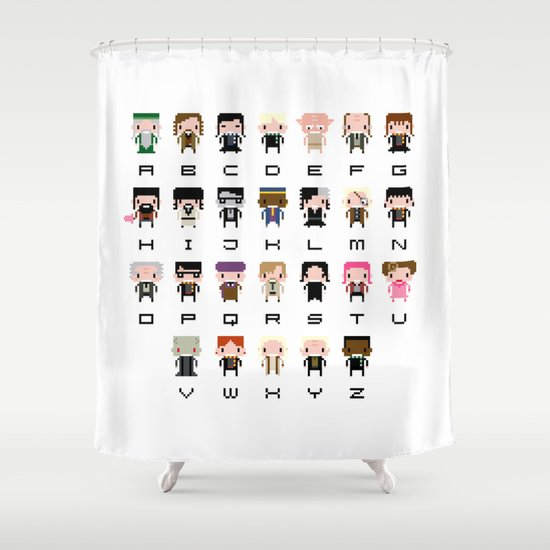 Harry Potter Alphabet Shower Curtain