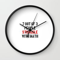 math Wall Clocks featuring Math Struggle by Spooky Dooky
