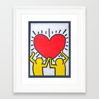 keith haring Framed Art Prints featuring Keith Haring by Et Voilà