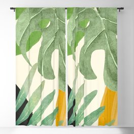 Abstract Art Tropical Leaves 19 Blackout Curtain