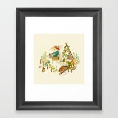 Critters: Summer Gardening Framed Art Print