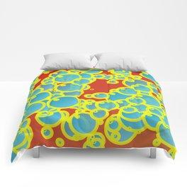 Blue bubbles Comforters