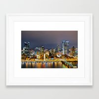 pittsburgh Framed Art Prints featuring Pittsburgh by Rachel Bock
