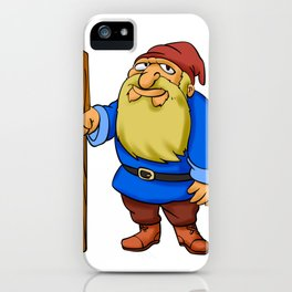 Cute Cartoon Garden Gnome iPhone Case