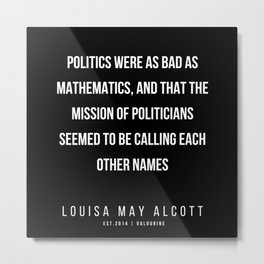 61   |   Louisa May Alcott Quote | 200413 Metal Print