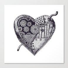 Mechanical heart Canvas Print