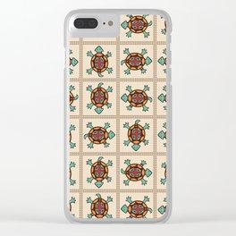 Native american pattern Clear iPhone Case
