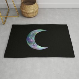 Crescent Moon Rainbow Magic Rug