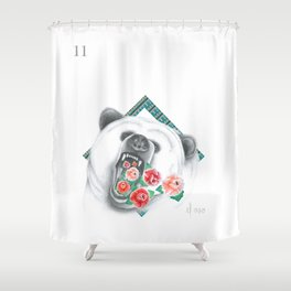El Oso — from the series Lotería Shower Curtain