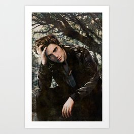 Robert Pattinson FAME comic book cover - Twilight Art Print