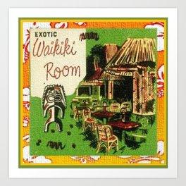 Tiki Art Exotic Waikiki Room Art Print