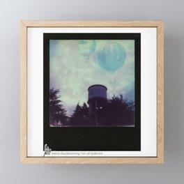 Aerial Daydreaming: hot air ballons Framed Mini Art Print