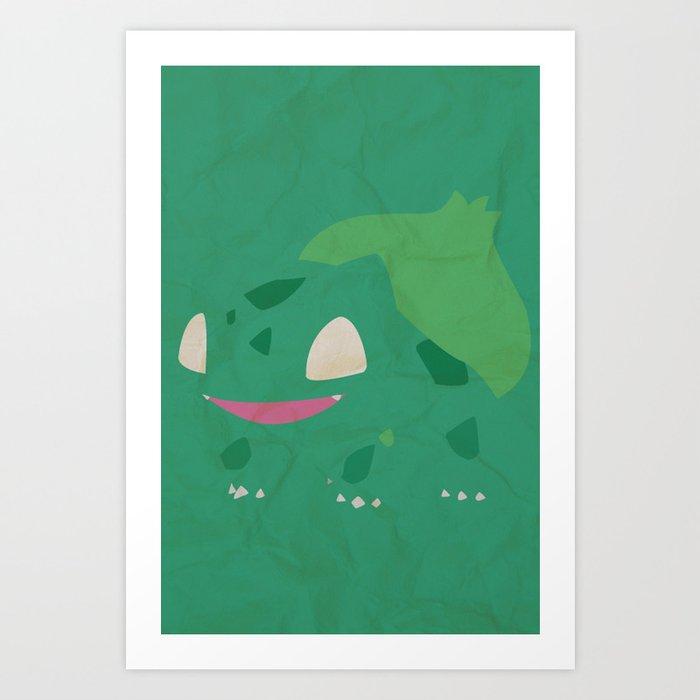 Bulbasaur Art Print By Leandrogago Society6