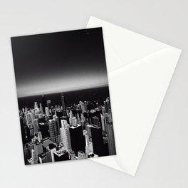 Black and White Chicago Skyline Stationery Cards