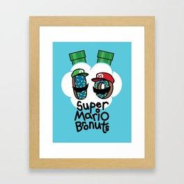 Super Mario Bronuts Framed Art Print