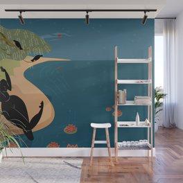 Kuan Yin Beneath a Willow Wall Mural