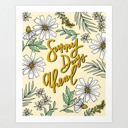 SUNNY DAYS AHEAD Art Print
