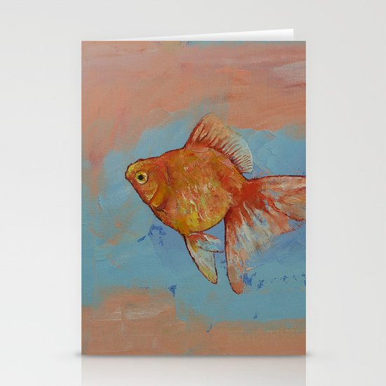 Ryukin Goldfish Stationery Cards