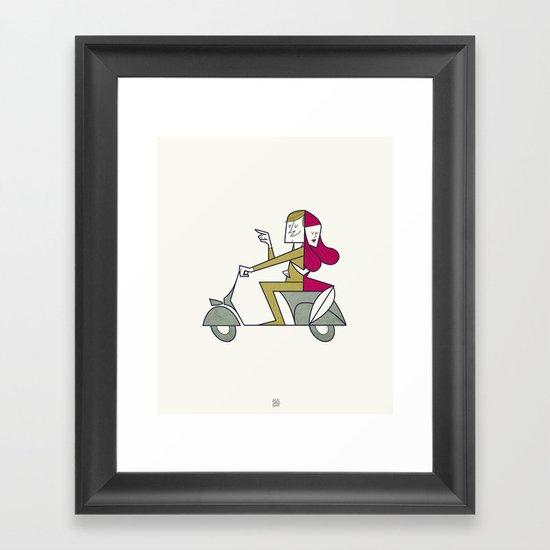 Lovers hug Framed Art Print