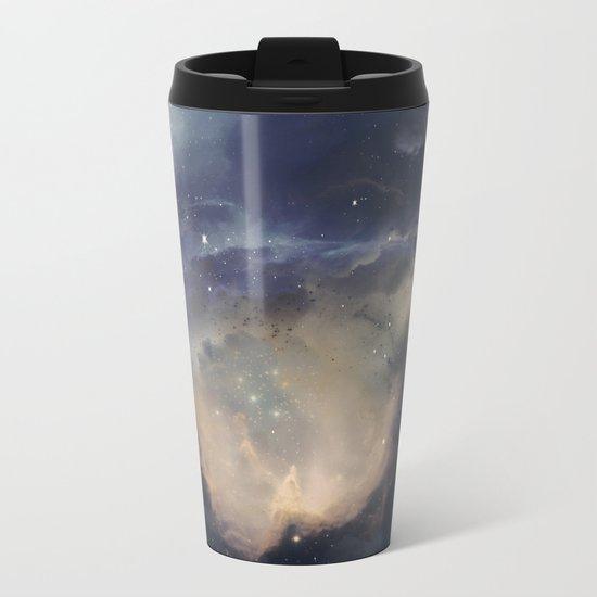 GOLD NEBULA Metal Travel Mug