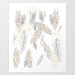 Feather Dream Pattern #3 #boho #decor #art #society6 Art Print