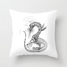 Dragon and Egg Throw Pillow