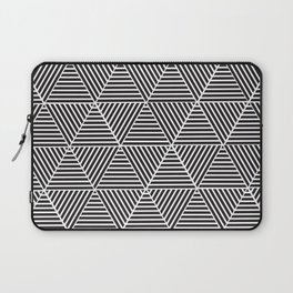 Black and White triangle pattern design Laptop Sleeve