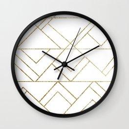 Art Deco Geo Glam #1 #geometric #decor #art #society6 Wall Clock