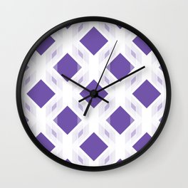 Retro-Delight - Diamond Division - Purple (Invert) Wall Clock