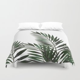 Palm Leaves Green Duvet Cover