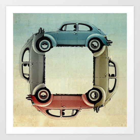 4 bug Art Print