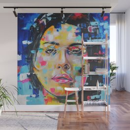 Color Space girl Wall Mural