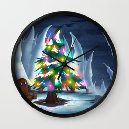 Waiting for Christmas Wall Clock