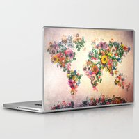 map of the world Laptop & iPad Skins featuring world map by Bekim ART