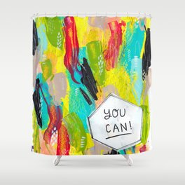 You can! Shower Curtain