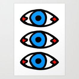 Three Open Eyes Art Print