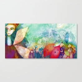 The faeries illustration Canvas Print