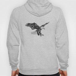 Bald eagle illustration Hoody