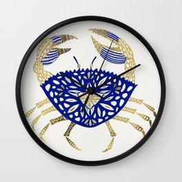 Crab – Navy & Gold Wall Clock