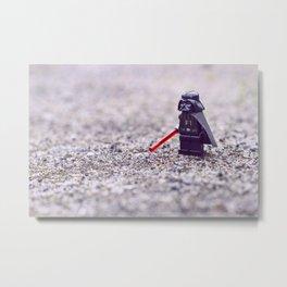 Darth lego Vader Metal Print