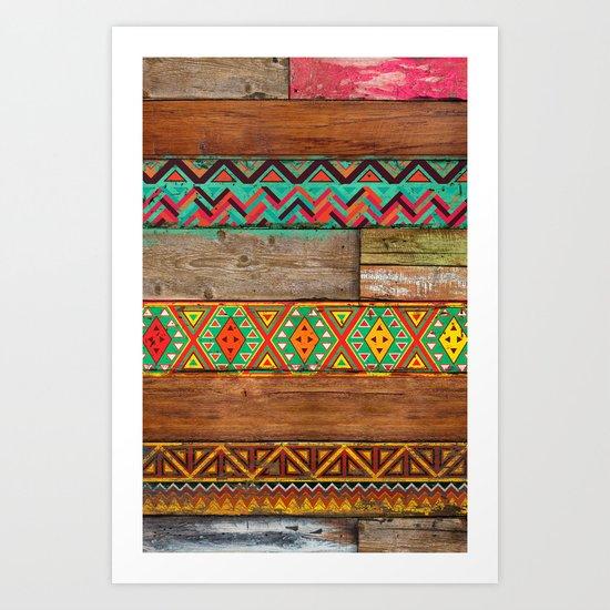 Indian Wood Art Print