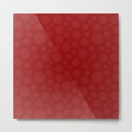 Polka Dot Plot: Red Metal Print