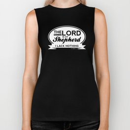 Psalm 23:1. The Lord is my Shepherd. Biker Tank