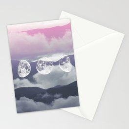 Pink Moontime Stationery Cards