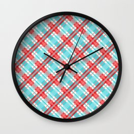 Gingham Picnic Wall Clock