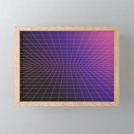 Outrun Grid / 80s Retro Framed Mini Art Print