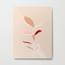Leafy Branch Line Art Metal Print