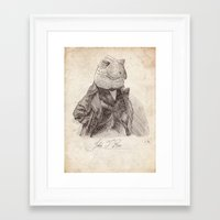 bouletcorp Framed Art Prints featuring John T. Rex by Bouletcorp